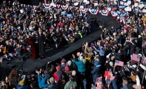 Elizabeth Warren called Donald Trump the 'most extreme' symptom of a broken system.
