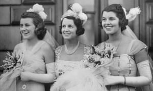 Rosemary Kennedy (right), with her sister Kathleen and mother Rose in 1938 before meeting George VI at Buckingham Palace.