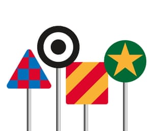 50 years of British Roadsigns at the Design Museum: Sir Peter Blake, based on Everybody Razzle Dazzle