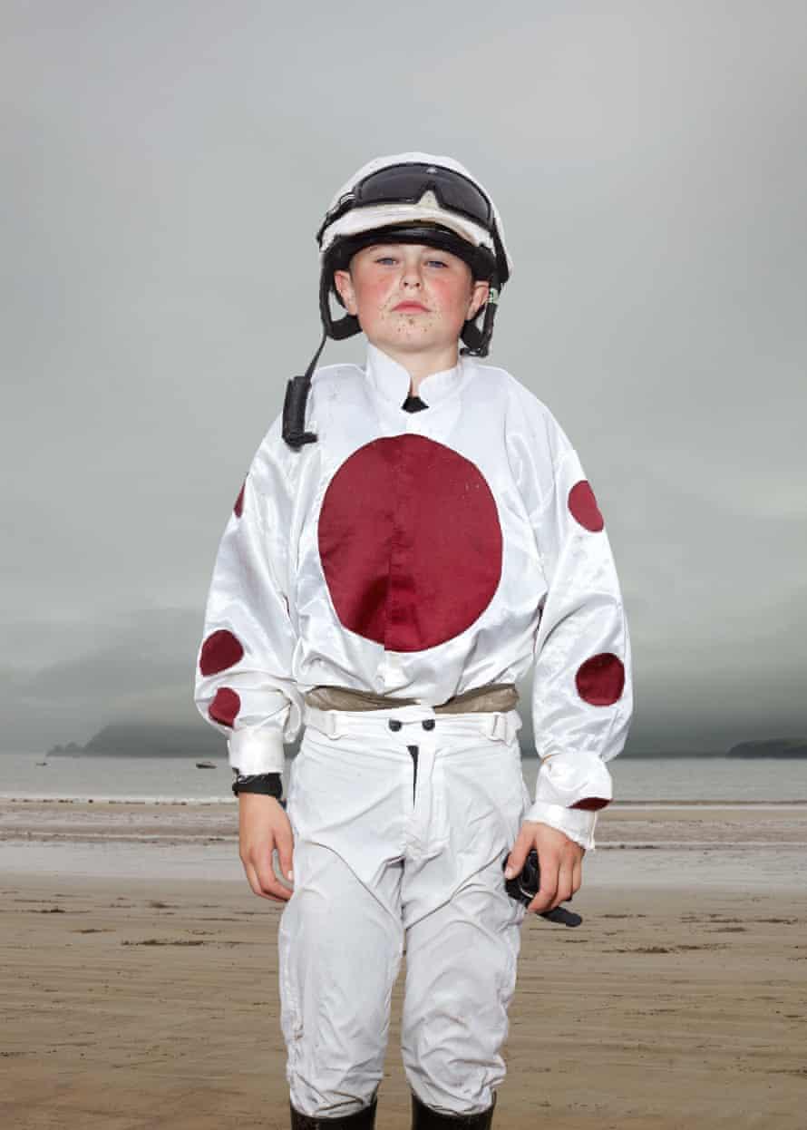 Young jockey Luke Bourke, 14