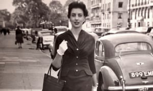 Catherine Freeman outside BBC Broadcasting House in London in the 1950s