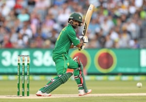 Mohammad Hafeez of Pakistan bats during game two of the One Day International series between Australia and Pakistan at Melbourne Cricket Ground.