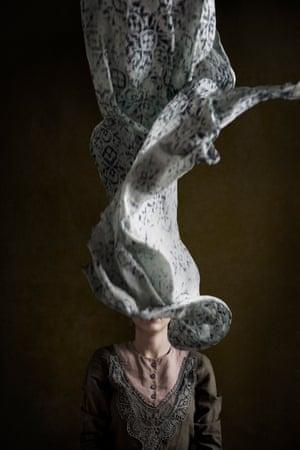 A portrait of an Iranian woman discarding her hijab by photographer Marinka Masséus