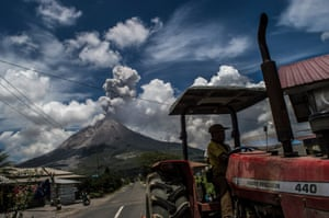 Karo, IndonesiaSinabung volcano erupts in Naman village. The volcano is one of 130 currently on high alert