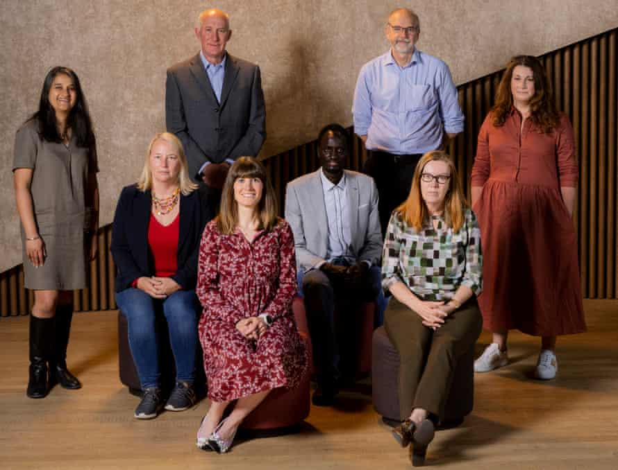Members of the academic team who worked on the AstraZeneca vaccine, shot on location at Blavatnik school of government, University of Oxford.