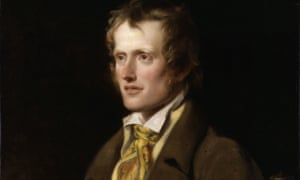 detail from William Hilton's portrait of John Clare (1820).