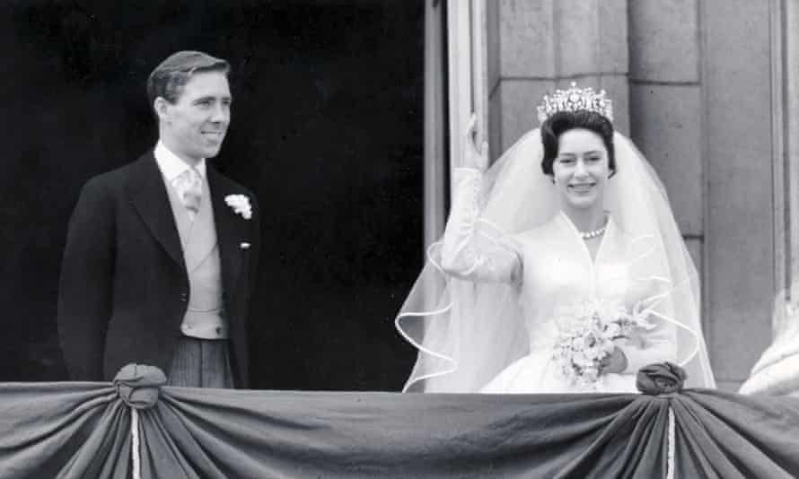 Lord Snowdon and Princess Margaret on their wedding day in May 1960.
