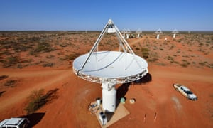 The Square Kilometre Array Pathfinder telescope in Western Australia's mid-west region. The project is starting to yield tantalising results, capturing a signal emitted before our solar system was born.