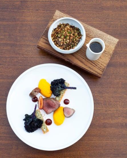 Michelin-style whimsy: the Fordwich Arms' sika venison. pumpkin and braised shoulder crumble