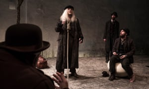 Garrett Lombard, Mary Rea and Aaron Monaghan in Waiting for Godot.