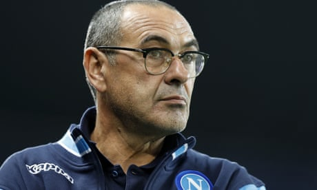 Maurizio Sarri and Jorginho arrive at Chelsea to complete moves to club