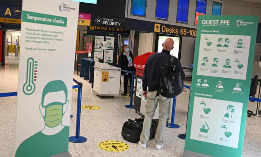 Body-temperature screening devices being trialled at Manchester airport