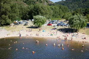 The river beach in Prades, where the tour will come through in two days