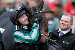 Nico de Boinville with Altior in the winners enclosure.