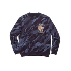 blue camouflage sweatshirt Maharishi Store