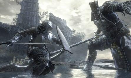 Masses of monster battling … Dark Souls 3