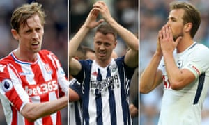 Peter Crouch, Jonny Evans and Harry Kane.