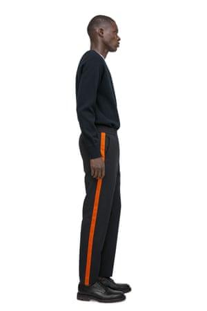 navy wool blend twill, side strip £89 arket.co.uk