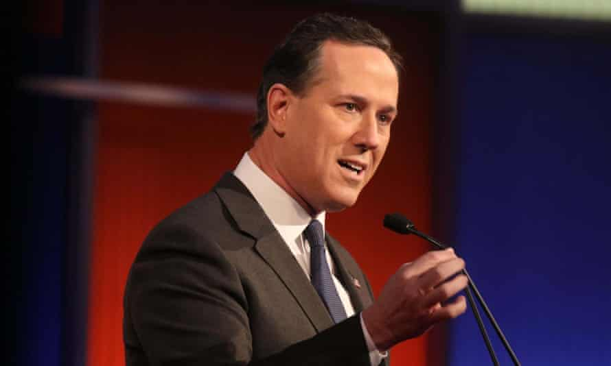 Rick Santorum at a talk in Des Moines in January 2016. Santorum said of his firing that 'intolerance of the left is really the issue here and the cancel culture flowing from it'.