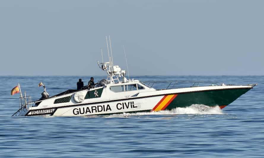 The Spanish Civil Guard patrolling the coast.