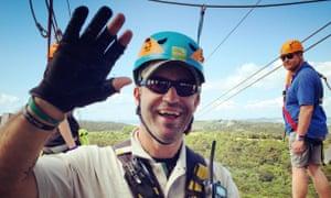 Guide René Hawkins at EcoZip Adventures on Waiheke Island, New Zealand, in February 2015.