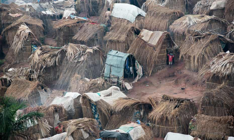 The Katanika displacement settlement, located just outside Kalemie town in Tanganyika, in the Democratic Republic of the Congo