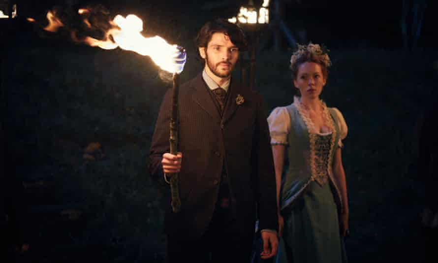 Fell the fear … Colin Morgan as Nathan Appleby with Charlotte Spencer as Charlotte Appleby in The Living and the Dead.