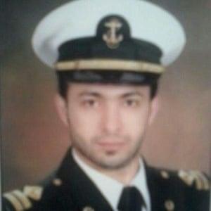 Mohammad Nadi Ismail in his Syrian navy uniform.
