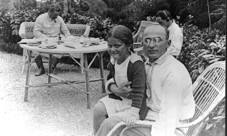 Lavrenti Beria, the boss of Stalin's secret police, with Stalin's daughter Svetlana.
