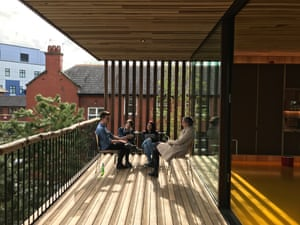 'There is a balcony with a deep overhang above, because after radiotherapy you usually don't want direct sunlight'