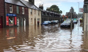 Flooding in Stonehaven on Wednesday.