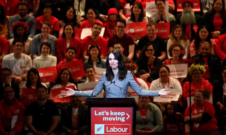 Jacinda Ardern at the Labour party policy launch on Saturday