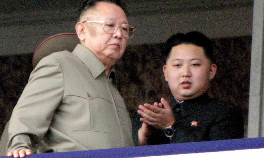 Kim with his father in 2010