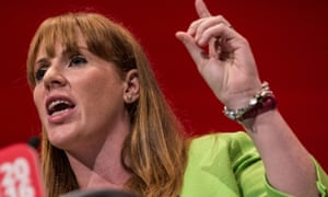 Angela Rayner addressing the Labour conference.