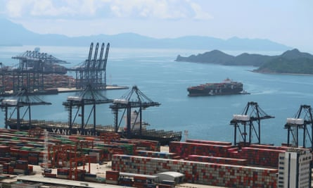 The Yantian port in Shenzhen, China