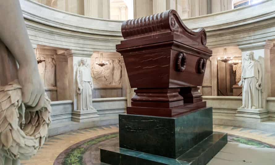 Napoleon Bonaparte's tomb at the Invalides in Paris, where Emmanuel Macron will lay a wreath on Wednesday.