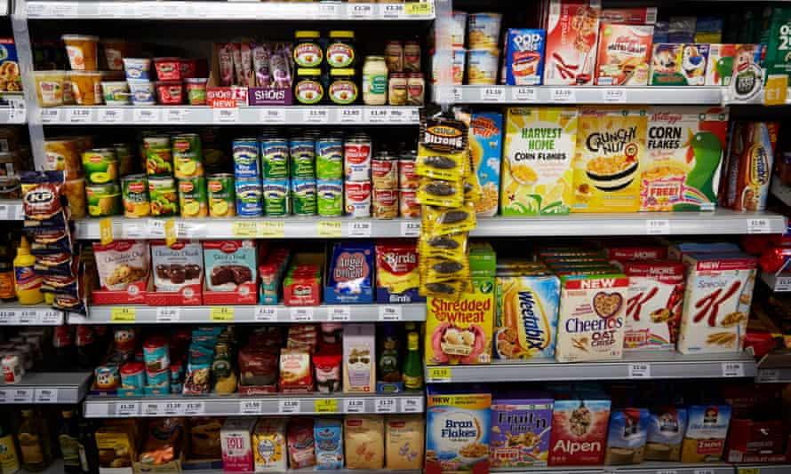 Shelves full of food