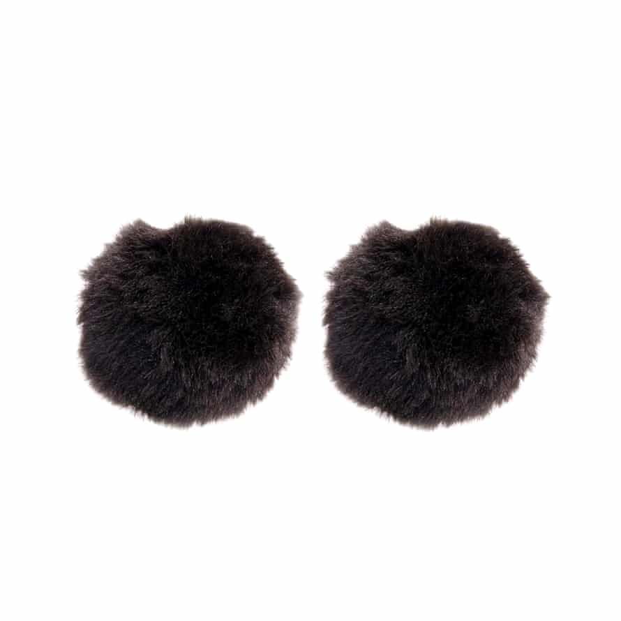 Fluff works for accessories too. Clip on pom-poms, £6, Asos.
