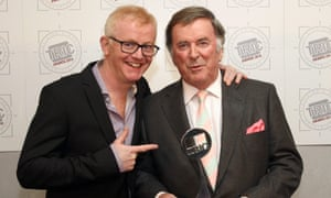 Terry Wogan (right) with Chris Evans