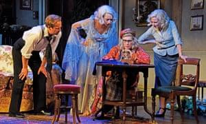 Geoffrey Streatfeild as Charles, Naomi as Elvira, Saunders as Madame Arcati and Lisa Dillon as Ruth.