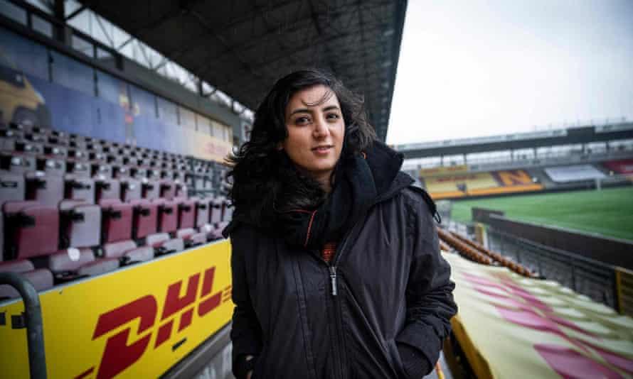 Khalida Popal, former captain of the Afghanistan women's team, helped coordinate efforts from Copenhagen.