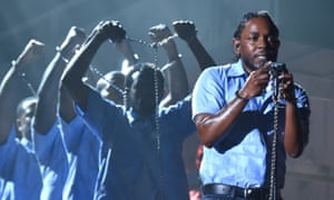 Kendrick Lamar … Finding little to cheer about.