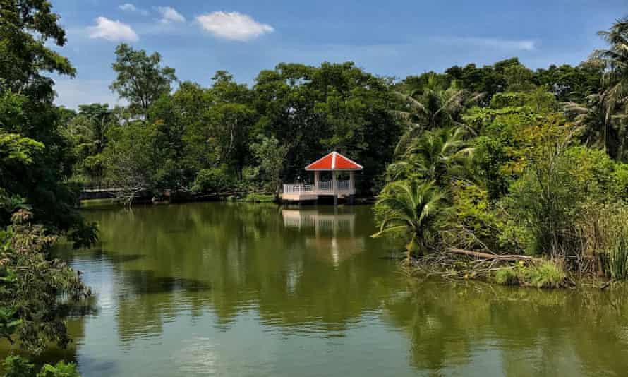 Ban Krachao island with water Bangkok, Thailand