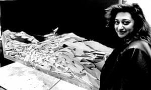 Zaha Hadid pictured in 1983