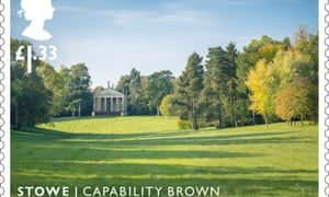 One of the stamps commemorating the work of landscape designer Capability Brown.