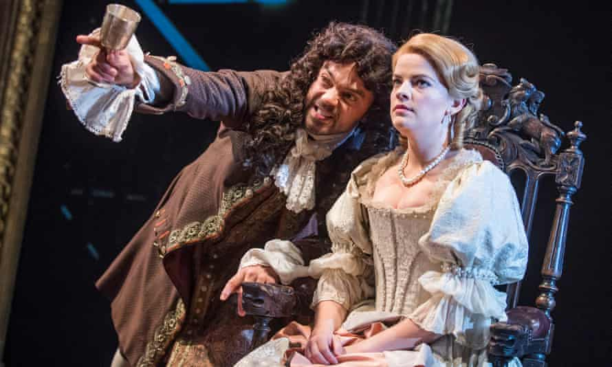 Dominic Cooper and Alice Bailey Johnson in The Libertine by Stephen Jeffreys at the Theatre Royal Haymarket in 2016.