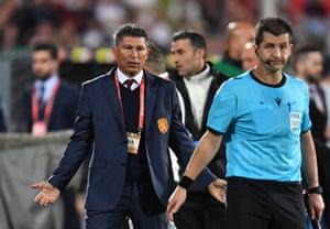 Krasimir Balakov during the Euro 2020 qualifier.