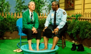 Rogers with one of the show's regulars, François Clemmons.