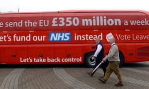 Vote Leave bus campaign.