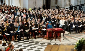 The Queen and senior members of the royal family and government attend the commemoration service for Afghanistan at St Paul's Cathedral in London.